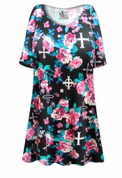 NEW! Customizable Roses & Crosses Plus Size & Supersize Extra Long T-Shirts 0x 1x 2x 3x 4x 5x 6x 7x 8x 9x!