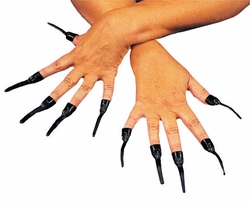 SALE! Vampire or Witch Slip-on Nails - Black