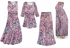 SOLD OUT! Watercolor Fantasy Slinky Print - Plus Size Slinky Dresses Shirts Jackets Pants Palazzo�s & Skirts - Sizes Lg to 9x