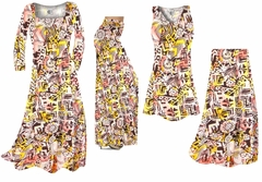 Yellow & Black Diamond & Daisy Ganado Tribal Slinky Print - Plus Size Slinky Dresses Shirts Jackets Pants Palazzo�s & Skirts - Sizes Lg to 9x