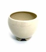 Incense Bowl: Glazed Ceramic-Ivory