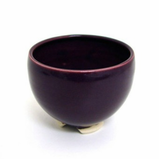 Incense Bowl: Glazed Ceramic-Plum
