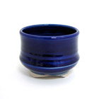 Incense Cup-Glazed Ceramic-Cobalt Blue