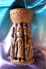 African Art  Sculpture - Owo Yoruba Cup Reproduction