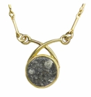 Allende Meteorite Jewelry Necklace Pendant 14K Gold