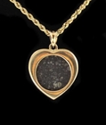 Allende Meteorite Jewelry Heart-Shaped 14K Gold - Sold!