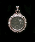 Allende Meteorite Pendant White Gold with Diamonds