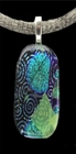 """Crop Circles"" Dichroic Glass Pendant"