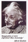 "Einstein ""Imagination"" Poster"