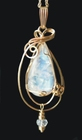 Exquisite Moonstone Jewelry Pendant 14k Gold