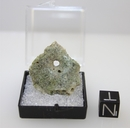Green Trinitite with Natural Hole