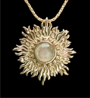 Libyan Desert Glass 14k Gold Sunburst Jewelry