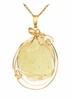 Libyan Desert Glass Jewelry 14k Gold for Sale