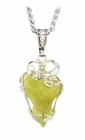 Libyan Desert Glass Jewelry Baroque Style Sterling