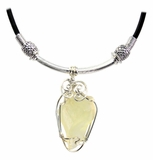 Libyan Desert Glass Jewelry Necklace Pendant - Game of Thrones Style