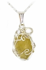 Libyan Desert Glass Jewelry Sterling Silver - Sold