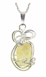 Libyan Desert Glass Jewelry - Sterling Silver