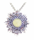 Libyan Desert Glass Sunburst Jewelry - Sterling Silver