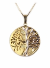 """Lightning Striking Tree"" 14k Gold/ White Gold Jewelry"