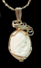 Mammoth Ivory Pendant - Mother and Child 14k Gold