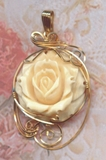 Mammoth Ivory Rose 14k Gold Jewelry