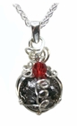 Birthstone Jewelry Necklace Pendant with Meteorite