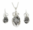 Meteorite Necklace Jewelry Set