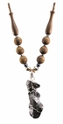 Meteorite Jewelry Necklace Tribal, Sikhote-Alin