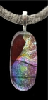 """Painted Sky"" Dichroic Glass Pendant"