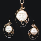 """Peaceful Moon"" 14k Gold Pendant Set"