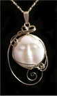 Peaceful Moon Sterling Silver Pendant