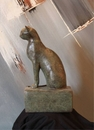 Archaeological Sacred Egyptian Cat Statue - Large