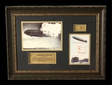 The Hindenburg Zeppelin Disaster  - Authentic Wood - Aviation History - Sold!