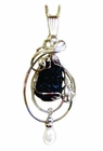 Titanic Coal Sterling Silver Large with Pearl