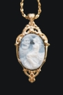 Woman and Ship Cameo 14k Gold