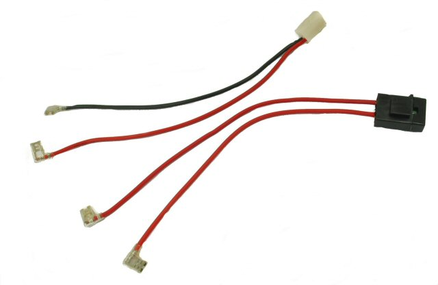 battery wiring harness adaptor for razor scooters and vehicles