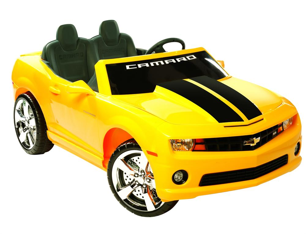 chevrolet camaro 2 seater kids ride on car