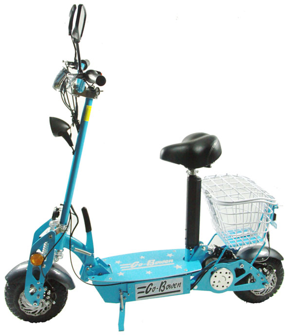 800 Watt 36 Volt Stand Up Electric Powered Scooter Cruiser