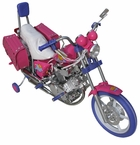 Electric Scooter for kids- Harley style mini bike-52011