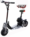 Evo 2x 50cc Gas Powered Scooter / Powerboard w/2-stroke Engine, 2 Speed Transmission & Free Removable Seat