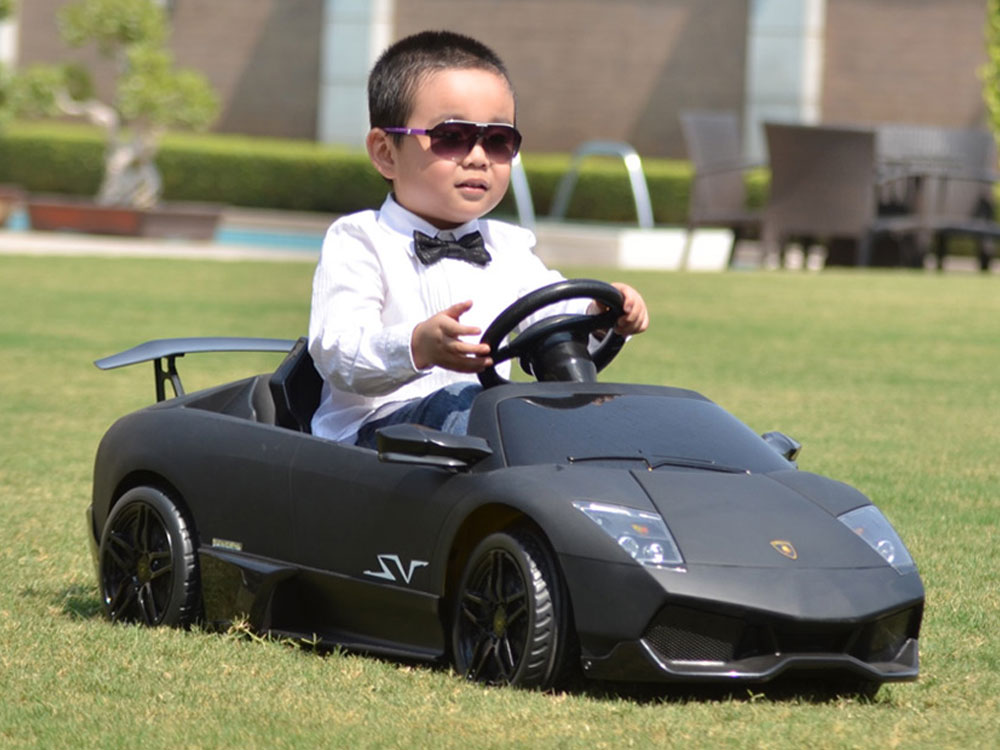 Lamborghini Electric Car For Kids >> Kalee Lamborghini Murcielago LP670 Black, 12 Volt Kids Ride-on Sports Car