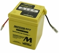 6Volt 4ah MotoBatt Quadflex Battery  (104-45)