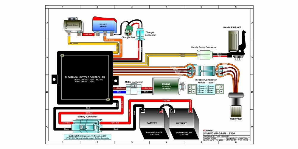 Quad Wiring Diagram Moreover Razor Electric Scooter Wiring Diagram