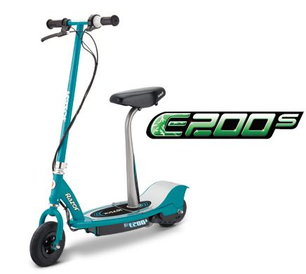 Razor E200s Electric Scooter With Seat 200 Watt Electric Powered Motor