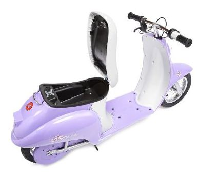 razor pocket mod sweet pea 250 watt electric moped scooter