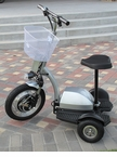 Q33 STAND & RIDE 3 Wheel Electric Utility Scooter W/ Reverse