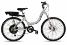 Stride 500 White Stylish 36 Volt 500 Watt Motor Stride Step-through Electric Bike