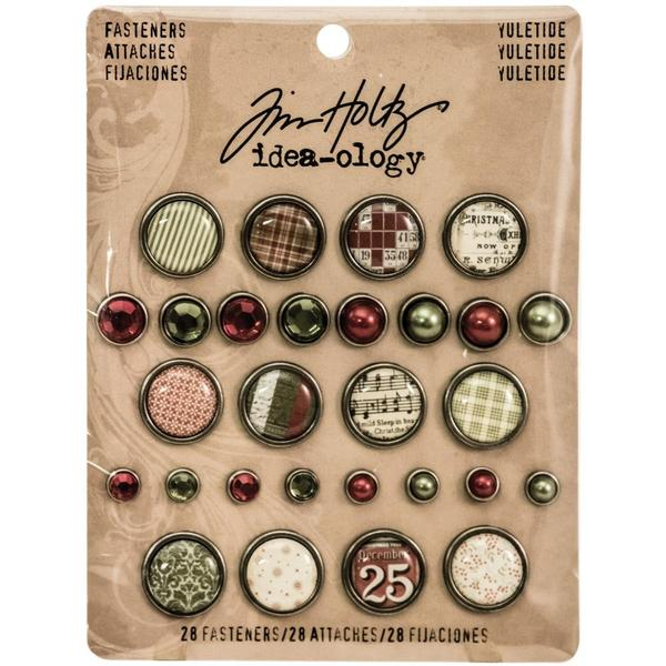 Advantus - Tim Holtz - Idea-ology Collection - Christmas - Fasteners - Yuletide