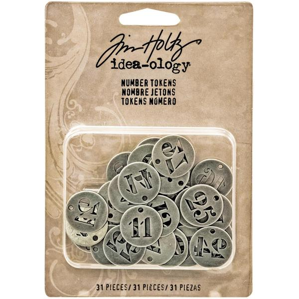 Advantus - Tim Holtz - Idea-ology Collection - Christmas - Number Tokens