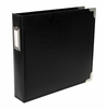 Becky Higgins - Project Life - Faux Leather Album - 8 x 8 D-Ring - Black